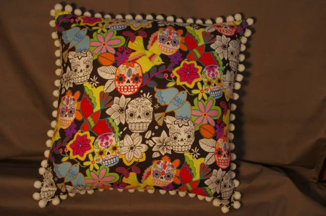 Candy/Sugar Skulls Retro Cushions