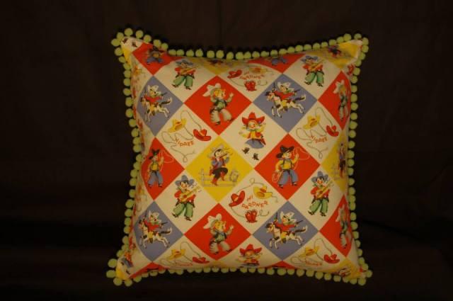 Cowdy's Kids Retro Cushion