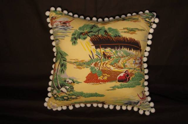 Hawaiian Scene Retro Cushion