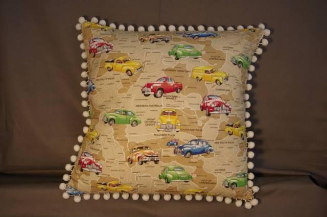 Aussie Holdens with Trim Retro Cushions