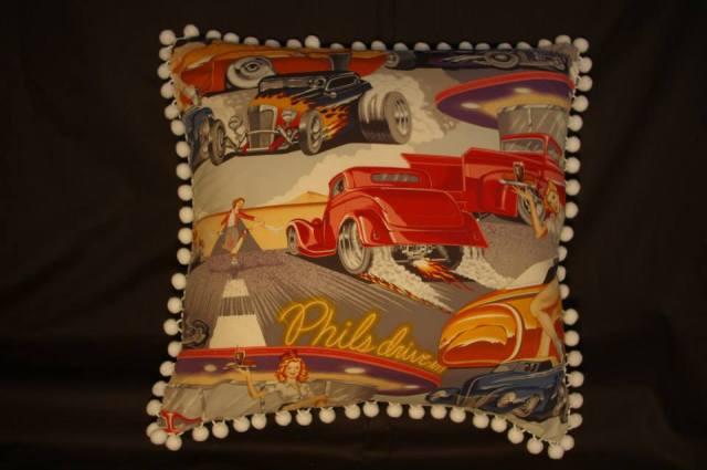Phil's DIner Grey Retro Cushions