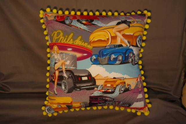 Phil's Diner Yellow Retro Cushions